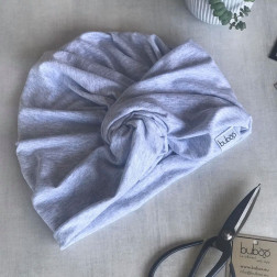 Summer thin beanie turban KNOT - Mist