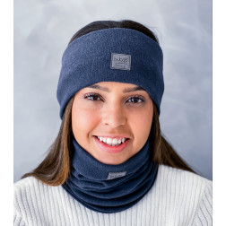 Woman headband for fall, winter, spring SIMPLE from BUBOO luxury, Blue