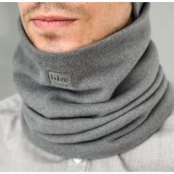 Stylish man snood scarf for spring fall or winter BUBOO luxury - Dark grey