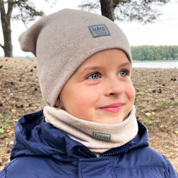 Kids beanie for fall winter spring BUBOO Luxury - Latte