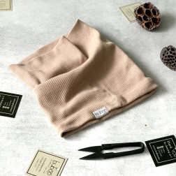 Kids snood scarf for spring, fall - Cocoa