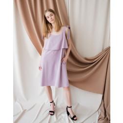 Woman soft linen/viscose dress SANTORINI, ash rose