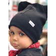 BEAR charcoal one layer beanie, black