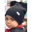 BEAR CHARCOAL doublelayered beanie, black