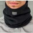 Stylish man snood scarf for spring fall or winter BUBOO luxury - Black