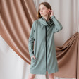 Woman casual dress – tunic with zipper BUBOO active, mint