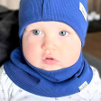 Kids snood scarf for spring, fall - Cornflower