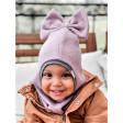 Stylish fall winter mohera wool kids helmet FASHIONISTA ash rose