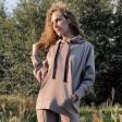 Woman stylish leisure jumper BUBOO active, sand