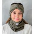 Stylish woman headband for spring autumn or winter, Chaki
