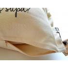 Interior pillow with print AA PUPA, champagne