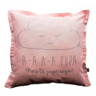 Interior pillow with print AA PUPA, ash rose
