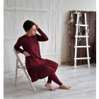 Female stylish dress GENEVA Burgundy