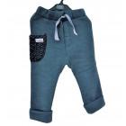 warm POCKET pants grey with dark wool pocket