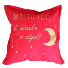 Interior pillow with print MYLIU TAVE, red
