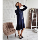 Female stylish dress GENEVA Royal Blue Long