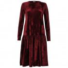 Female luxurious dress VENEZIA Burgundy Velvet