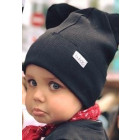BEAR charcoal one layer beanie black