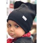 BEAR CHARCOAL doublelayered beanie, black
