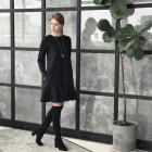 Female luxurious dress ROMA Light Black