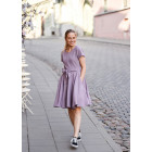 Blooming linen/viscose female dress with strap HAVANA Ash Rose