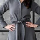 Impressive denim female dress MILAN with striped belt