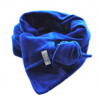 KNOT double layered velour scarf corn flower
