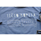Long sleeve shirt blue TĖČIO KOPIJA
