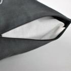 Interior pillow with print NAMAI KUR ŠEIMA, dark grey