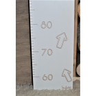 "Kid's white natural plywood Buboo growth chart ""Let's grow up together"""