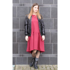 Female stylish dress VENEZIA Burgundy Light