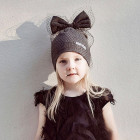 Extremely stylish beanie with a tulle FASHIONISTA