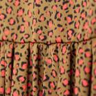 Female luxurious dress WOW leo brown midi