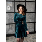 Female luxurious dress ROMA Emerald velvet