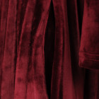 Female luxurious dress VALENCIA Burgundy Velvet pleated