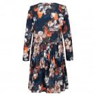 Female luxurious dress WOW 3D flowered blue midi