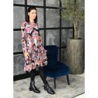 Female luxurious dress WOW 3D flowered pastel midi