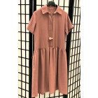 Female stylish dress LIMA Ash Rose with short sleeves
