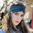 Stylish woman headband KNOT, grey dandeli4on