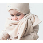 KNOT double layered velour scarf milk