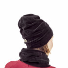 KNOT adult double layered velour scarf charcoal