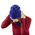 SCREWcz double layered velour beanie corn flower
