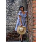 Impressive female dress FIJI wide stripes