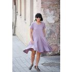 Impressive light linen/viscose female dress CUBA Ash Rose
