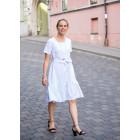Impressive linen/viscose female dress with strap LISABONA White