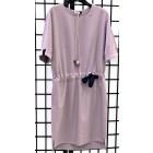 Impressive linenviscose female dress with strap MANILA ash rose
