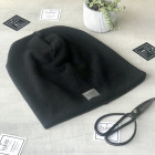 Woman fall winter beanie hat - Black