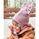 Stylish fall winter kids helmet FASHIONISTA ash rose