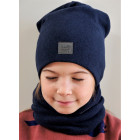 Kids beanie for fall winter spring BUBOO Luxury - Blue