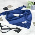 Kids spring scarf UPSIDEDOWN blue